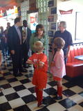 Sarah Palin Candids in Black Skirt at a Diner x 12