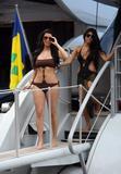 Kim Kardashian finally shows her ass in bikini in (photoshoot) candids on a yacht in Monte Carlo